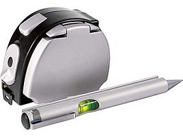 Набор 5-в-1 калькулятор, ручка, фонарик, рулетка 3 м, бумажный блок играть в flash рулетка